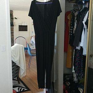 Forever 21 short sleeved black jumpsuit sz M